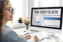 Pay Per Click Login Website Payment Graphic Concept stock image