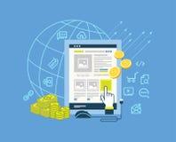 Pay per click modern flat design illustration Stock Photo