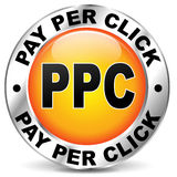 Pay per click orange icon Stock Photography