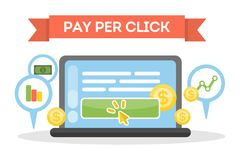 Pay per click. Royalty Free Stock Photos
