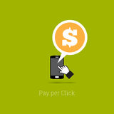 Pay Per Click Phone Royalty Free Stock Image