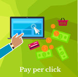 Pay Per Click Poster Stock Image