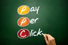 Pay per click Stock Photo