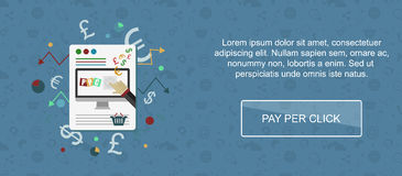 Pay per click website banner. Stock Photo