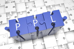 Pay per Lead. Puzzle 3d render illustration Royalty Free Stock Photos