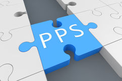 Pay per Sale. Puzzle 3d render illustration Stock Photography