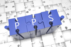 Pay per Sale. Puzzle 3d render illustration Royalty Free Stock Images