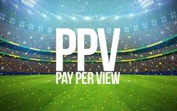 Pay per view стадиона Стоковые Фото