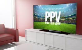pay per view curvado da televisão Fotos de Stock Royalty Free