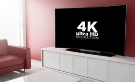 pay per view curvado da televisão Foto de Stock