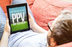 pay per view do moderno Fotografia de Stock Royalty Free