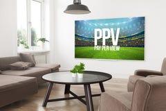 pay per view moderno da televisão ilustração stock