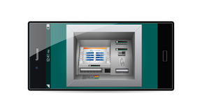 Pay by phone - ATM - Automated teller machine concept Royalty Free Stock Images