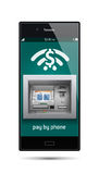 Pay by phone - ATM - Automated teller machine Stock Photos