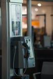 Pay Phone at Heathrow Stock Photo