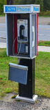 Outdoor rural pay phone Royalty Free Stock Photos