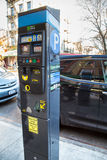 Pay By Phone Parking Meter. BRONX, NYC - DEC 28:  Pay By Phone parking meter on Arthur Ave. in New York City on Dec. 28, 2013.  These innovative meters allows Stock Photography