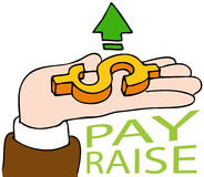 Pay Raise. An image of a pay raise business hand Stock Photo