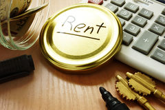 Pay rent concept. royalty free stock images