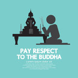 Pay Respect To The Buddha. Stock Photos