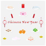 Pay respect to the Chinese New Year Stock Photography