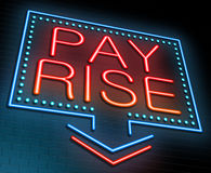 Pay rise concept. Stock Photography