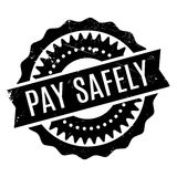 Pay Safely rubber stamp Stock Photography