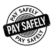 Pay Safely rubber stamp Stock Photos