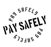 Pay Safely rubber stamp Stock Image