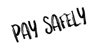 Pay Safely rubber stamp Stock Images