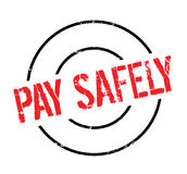Pay Safely rubber stamp Royalty Free Stock Photo