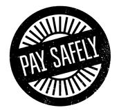 Pay Safely rubber stamp Royalty Free Stock Photos