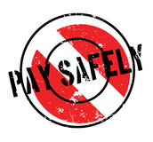 Pay Safely rubber stamp Royalty Free Stock Images