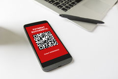 Pay by scanning your QR code with smartphone. Stock Image