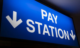Pay station sign Royalty Free Stock Photo