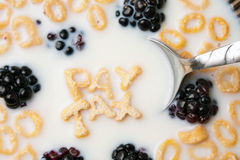 Pay Tax Cereal Reminder Royalty Free Stock Photography