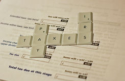 Pay Taxes Stock Photography
