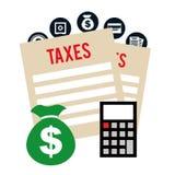 Pay taxes Royalty Free Stock Photos