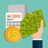 Pay taxes graphic Stock Photos