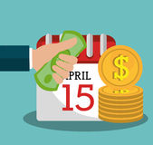 Pay taxes graphic Stock Image