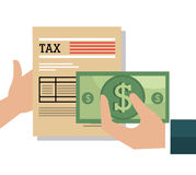 Pay taxes graphic Stock Photo