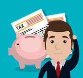 Pay taxes graphic. Design,  illustration eps10 Royalty Free Stock Image