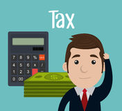 Pay taxes graphic Royalty Free Stock Images