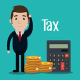 Pay taxes graphic Royalty Free Stock Photo