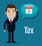 Pay taxes graphic Royalty Free Stock Photos
