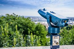 Pay telescope for tourists Stock Photography