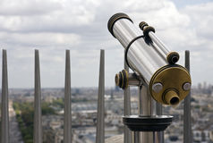 Pay telescope at travel destination Royalty Free Stock Images