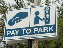 Pay To Park Car Parking Sign Stock Photography