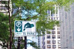 Pay to park sign Royalty Free Stock Image
