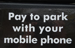 Pay to park sign Stock Photography